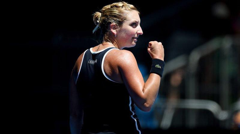 Timea Bacsinszky, de retour de l'Open d'Australie où elle a atteint le 3e tour, jouait son 18e match dans la compétition.