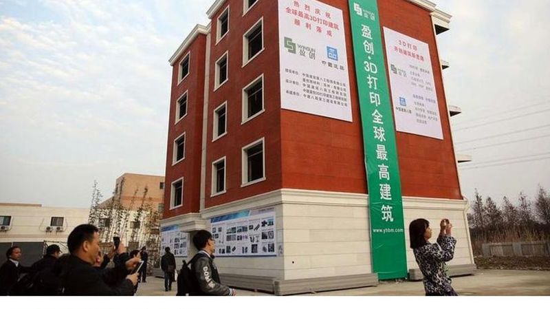 Le premier immeuble construit avec une imprimante 3D