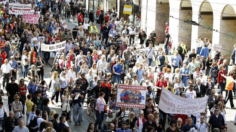 Des manifestations à cause d'emprunts en francs suisses avaient déjà eu lieu en Pologne.