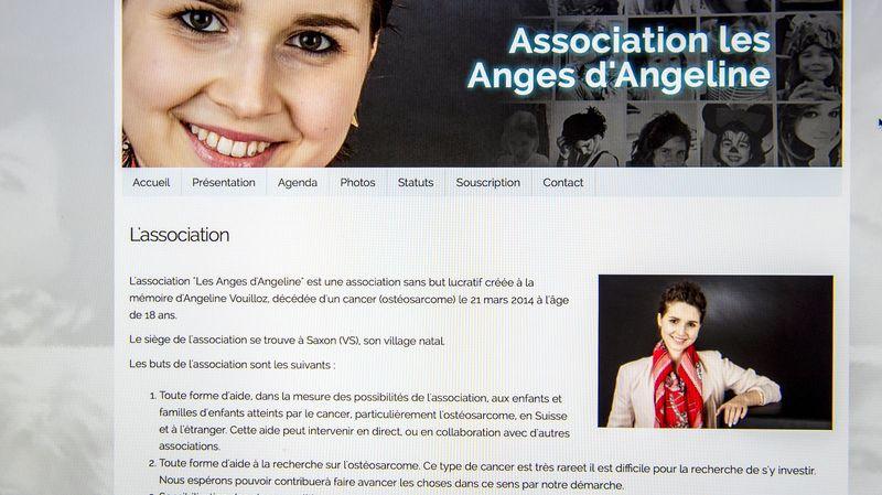 Martigny, le 17.03.2015. Photo d'ecran du site Inetrnet des Anges d'Adeline. (Le Nouvelliste/Christian HOFMANN)