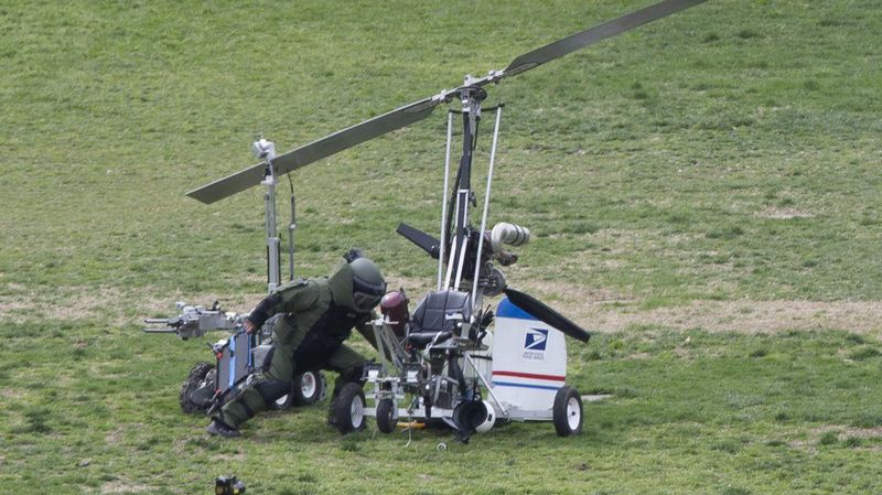 Le 15 avril dernier, l'homme de 61 ans avait posé son petit engin doté d'un simple siège et d'une hélice, de type girodyne, en plein coeur de Washington.
