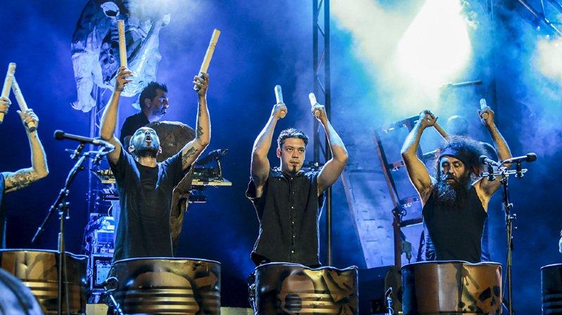 La dernière fois que les Tambours du Bronx se sont produits dans la région, c'était au Rock Altitude Festival.